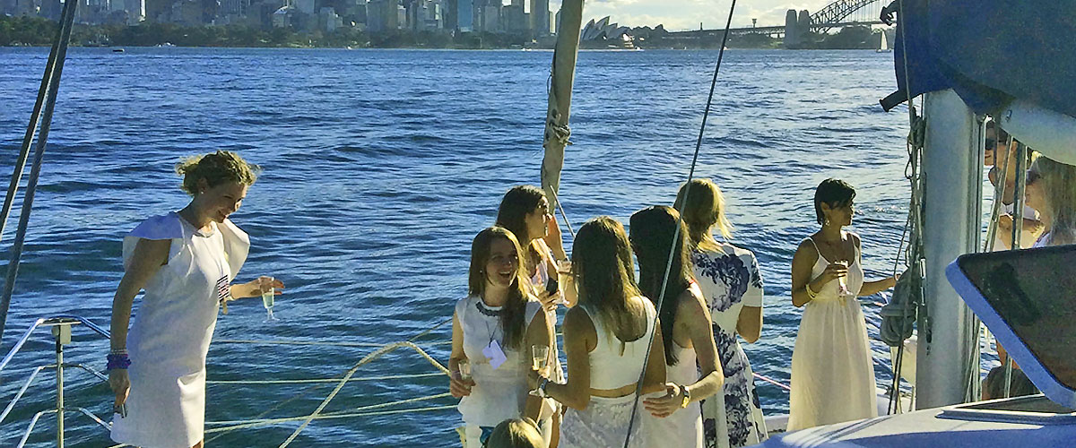 Hens Party Cruise at twilight